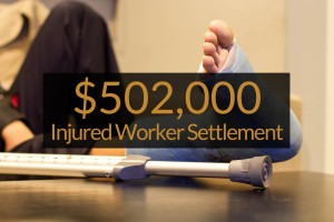 foot injury workers compensation settlement