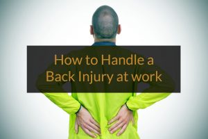 how to handle a back injury at work