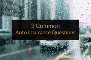 common auto insurance quetions